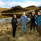 Members of the QEII trust (from left) Sue Yerex, Rob Campbell, James Hunter and Rob Wardle visit...