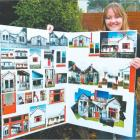 Menzies College pupil Allesha Ballard (18), of Seaward Downs, with some of the photographs she...