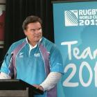Michael Jones is worried about World Cup merchandising. Photo by NZPA