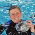 Dunedin diver Michelle Brunton, at Moana Pool yesterday, is headed to the Antarctic to supervise...