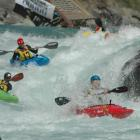 Mike Dawson, of Tauranga, leads the field though the Citroen Rapid on the Kawarau River during...