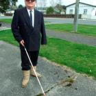 Milton man Douglas Keen is hoping to be the first blind councillor elected to the Clutha District...