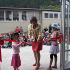 Minister of Education Anne Tolley opens the new classroom block at Queenstown Primary School with...