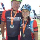 Mixed category winners Mark Williams and Kate Fluker, of Queenstown. Photos by Guy Williams.