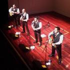 Modern Maori Quartet members  (from left) Maaka Pohatu, Francis Kora, Matariki Whatarau and James...