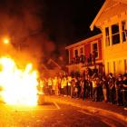 More charges could follow as police review video and photographs of the Castle St disorder. Photo...