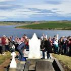 More than 200 people gather at the Waipori Cemetery near Lake Mahinerangi for the unveiling of...