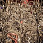 More than 600 bikes tipped on their backs after the Tour de Wakatipu race on Saturday. Photo by...