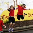 Mornington School pupils (from left) Tamara Mason (7), Emily Finnie (8), Samara Ali (8) and Kasam...