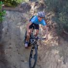 Mount Aspiring College pupil Paul Wright (15) racing in the New Zealand Mountain Bike Cup Series...