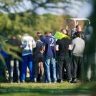 Mourners gather at the grave site of Mohamed Merah, a Frenchman of Algerian origin who was shot...