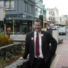 MP hopeful Grant Robertson.  Photo by Dene Mackenzie.