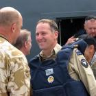 Mr Key arrives to visit troops in Kabul. Photo by NZPA.