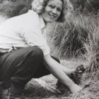 Mr  Watson used a box Brownie camera to take this photograph of Joan Watson (then Joan Telfer)...