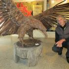 Multifaceted designer and sculptor Dan Kelly, of Glenorchy, presents The Haast Eagle (2014), his...