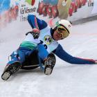Naseby-based luger Jack Leslie negotiates a bend at the natural track luge junior world...