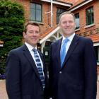 National Party list MP Michael Woodhouse and Prime Minister John Key pause for a photo at...