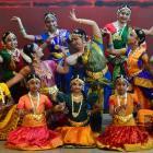 Natyaloka School of Indian Classical Dance performers dress-rehearse Maaya at King Edward Court...