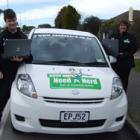 """Need a Nerd Southland franchise owner Lyn McKenzie (right) and """"nerd"""" Nick Trounson (left) are..."""