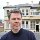 Neighbour Peter Grace outside the historic Dunedin Greenslade Mansion, owned by Otago Girls' High...