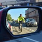 New cycle lanes seem likely to cost Dunedin drivers some car parks. Photo by Gerard O'Brien.