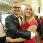 New Dunedin North Labour MP David Clark with wife Katrina. Photo by Craig Baxter.