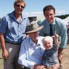 New Maniototo A&P Association life member Alan Paterson (left) with association president and son...