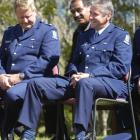 New police Southern district commander Robert Burns (right), with his former supervisor Bay of...
