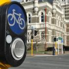 New  signals have been installed on State Highway 1 near the Dunedin Railway Station. Photos by...