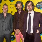 New Zealand film-maker Florian Habicht (centre) with Pulp bandmates Steve Mackey (left) and...