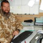 New Zealand Navy Chief Petty Officer Rob Powell, formerly of Dunedin, experienced a white...