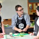 New Zealand's first Masterchef and former teacher Brett McGregor shows Bayfield High School...