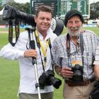 New Zealand sports photographers Andrew Cornaga (left) and Peter Bush: ''I used to tour with...