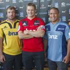 New Zealand Super 15 team captains (from left) Highlander's Jamie Mackintosh (Highlanders),...