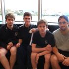 New Zealand under-18 ice hockey representatives and Southern Stampede members (from left) ...