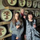 New Zealand  Whisky Company Oamaru maturation store staff members, (from left) Fiona Stewart, Kay...