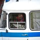 New Zealander Jonathan Beauchamp leaves the Leninsky District Court of Murmansk, after being...