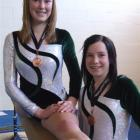Nicole Herron (left) and Stacey Kerin both won bronze medals at the Gymsports New Zealand...