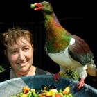 Nik Hurring of Project Kereru and one of the beneficiaries of her work. Photo by Stephen Jaquiery.