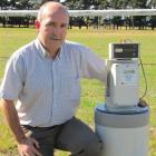 Niwa group manager instrument systems Rod McKay shows a compact stilling well water-monitoring...