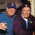 Noel McGarry and Arnold Divers relax at Coronet Peak in 1994. Photo by Jonathan Cameron.