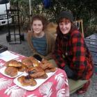 Nora Maarleveld (left) and Tessa Chishom sell baking  for Bellbird Baked Goods at the...