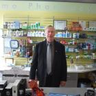 Norman Edwards at the Waihemo Pharmacy. Photo by Bill Campbell.