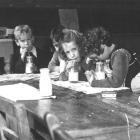 Northeast Valley School pupils drink their milk in the 1950s. Photo by Evening Star.