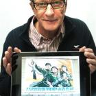 Nuclear-free Korea? Prof Herbert Wulf, a visiting researcher, displays a photograph of a...