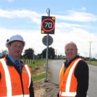 NZ Transport Agency senior network manager Peter Robinson  (left) and Armitage Group installation...
