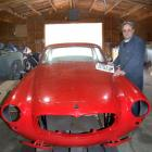 Oamaru motor body builder Rod Tempero with a 1953 Maserati sent to him for restoration. Photo by...