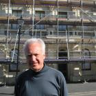 Oamaru Repertory Society president Bob Avis outside the Repertory Theatre, which is being...