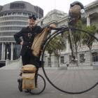 Oamaru wheelman David Wilson, pictured at Parliament as he passed through Wellington,  has passed...