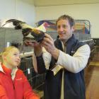 Nelson Judge Peter Lyall checks a hard-feathered bantam, ...